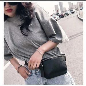 Handbags - Black leather belt bag/crossbody